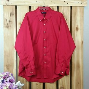 Chaps Red Button Down Shirt NWOT